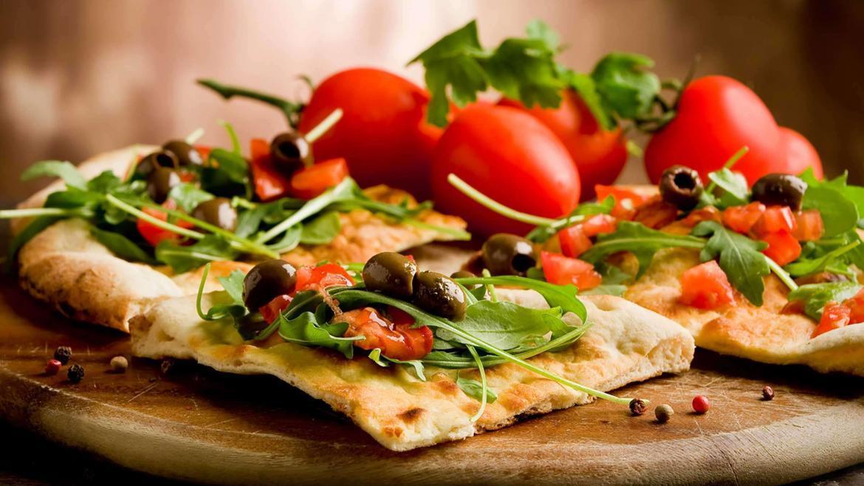 Lavash Pizza with Tomatoes and Mozzarella