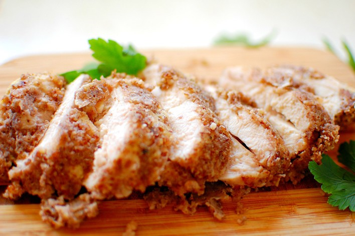 Baked Cashew Crusted Chicken