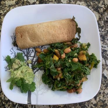 Pinto Beans and Greens Enchilada Casserole