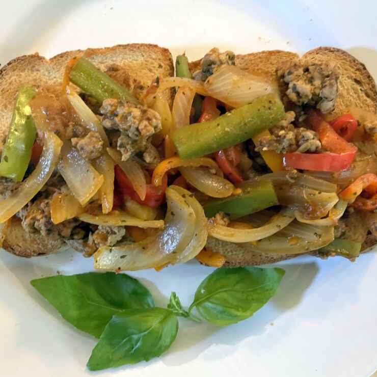 Sausage with Onions and Peppers